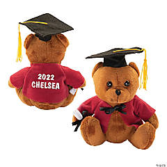 Personalized Graduation Stuffed Bear - Burgundy