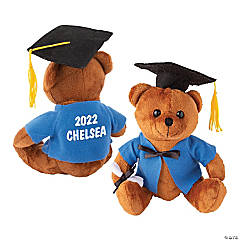 Personalized Graduation Stuffed Bear with Blue Shirt