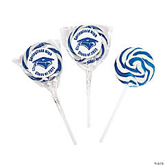 Personalized Graduation Swirl Lollipops