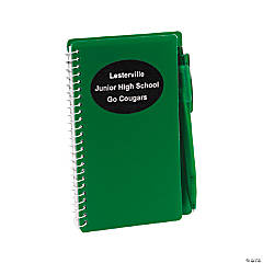 Personalized Green Spiral Notebooks with Pens