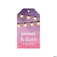 Personalized Hanging Lights Favor Tags
