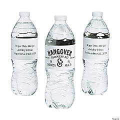 Personalized Hangover Kit Water Bottle Labels
