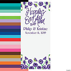 Personalized Happily Ever After Backdrop Banner