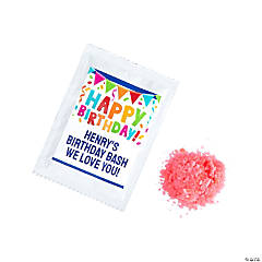 Personalized Happy Birthday Popping Candy