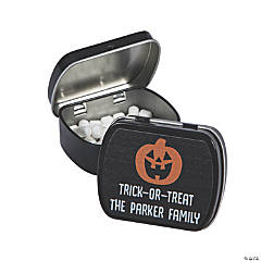 Personalized Happy Halloween Mint Tins