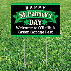 Personalized Happy St. Patrick's Day Yard Sign