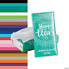 Personalized Happy Tears Tissue Pack Stickers