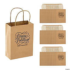 Personalized Holiday Gift Bags