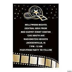 Personalized Hollywood Event Invitations