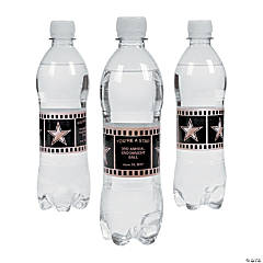 Personalized Hollywood Water Bottle Labels