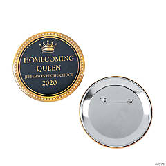 Personalized Homecoming Royalty Button Set