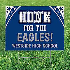 Personalized Honk for the Team Yard Sign