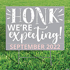 Personalized Honk We're Expecting Yard Sign