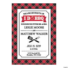Personalized I Do BBQ Invitations