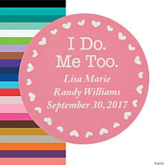Personalized I Do, Me Too Favor Stickers