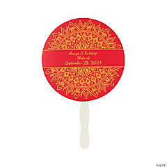 Personalized Indian Wedding Hand Fans
