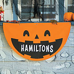 Personalized Jack-O'-Lantern Bunting Halloween Decoration