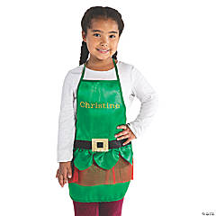 Personalized Kid's Elf Apron