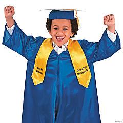 Personalized Kids' Yellow Elementary School Graduation Stole