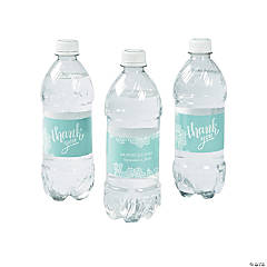 Personalized Lace Pattern Water Bottle Labels