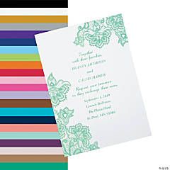 Personalized Lace Pattern Wedding Invitations