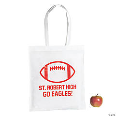 Personalized Large Football Tote Bags