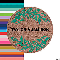 Personalized Laurel & Cork Design Favor Stickers