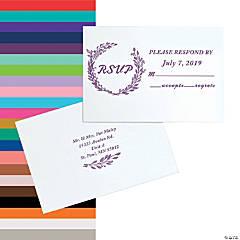 Personalized Laurel Leaf Wedding Response Cards