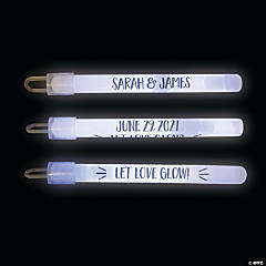 Personalized Let Love Glow Sticks