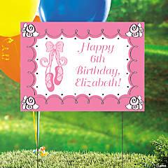 Personalized Little Ballerina Birthday Yard Sign