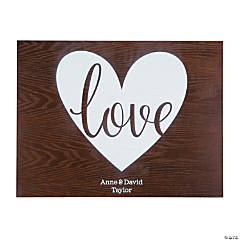 Personalized Love Guest Book Sign