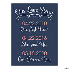 Personalized Love Story Wedding Sign
