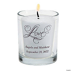 Personalized Love Wedding Votive Candle Holders