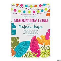 Personalized Luau Graduation Invitations