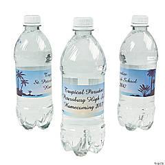 Personalized Luau Water Bottle Labels