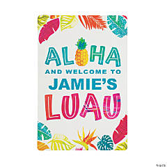 Personalized Luau Wooden Sign