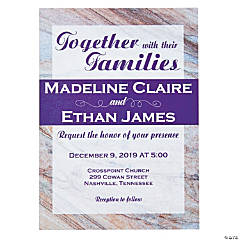 Personalized Marble Wedding Invitations