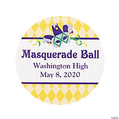 Personalized Masquerade Theme Favor Stickers