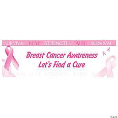 Personalized Medium Breast Cancer Awareness Vinyl Banner