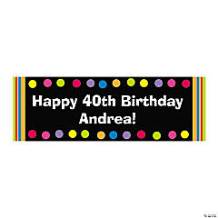 Personalized Medium Bright Dots Birthday Banner