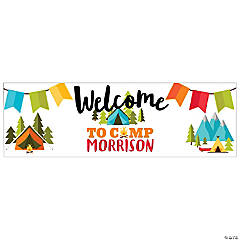Personalized Medium Camp Party Vinyl Banner