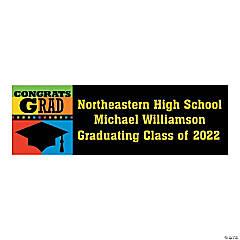 Personalized Medium Congrats Grad Banner