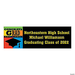 Personalized Medium Congrats Grad Vinyl Banner