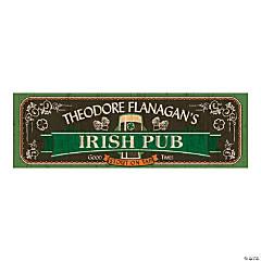 Personalized Medium Irish Pub Vinyl Banner