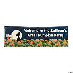 Personalized Medium Peanuts® Great Pumpkin Vinyl Banner