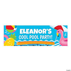 Personalized Medium Pool Party Vinyl Banner