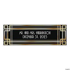 Personalized Medium Roaring '20s Vinyl Banner