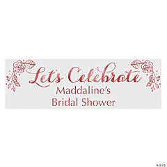 Personalized Medium Rose Gold Bridal Shower Vinyl Banner
