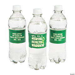 Personalized Mental Health Awareness Water Bottle Labels