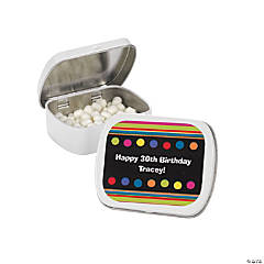 Personalized Milestone Birthday Mint Tins